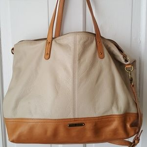 Lucky Brand Leather Oversize Tote Handbag